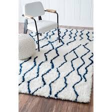 nuloom soft and plush moroccan trellis blue shag rug 9 u0027 x 12