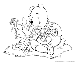 winnie pooh colouring coloring