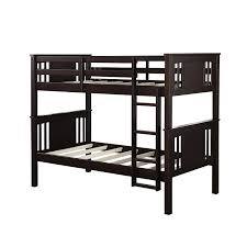 amazon com dorel living dylan bunk bed twin espresso kitchen