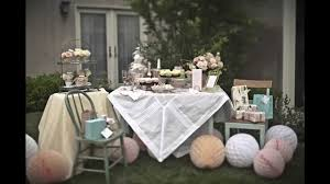Bridal Shower Centerpiece Ideas by Tea Party Bridal Shower Decorating Ideas Youtube