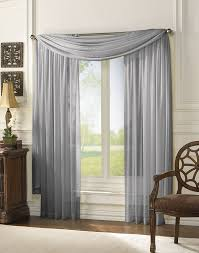 Sheer Curtains With Valance Delray Soft Sheer Lightweight Tailored Curtain Panel