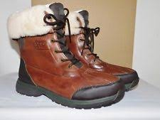ugg rudyard sale ugg mens b grade rudyard boots leather wool thinsulate brown sz11