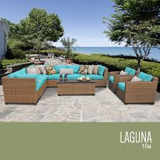 Outdoor Wicker Patio Furniture Sets - tk classics laguna 10 piece outdoor wicker patio furniture set 10a