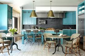 blue kitchens with dark cabinets best images on kitchen ideas and