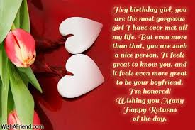 birthday greeting cards wishes for girlfriend bday wishes cakes