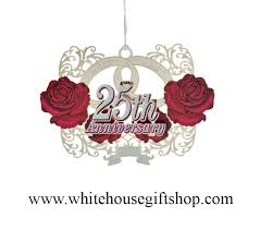 anniversary ornament ornaments 2014 sale 25th anniversary ornament silver finished