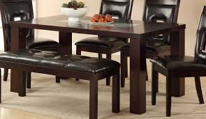 Espresso Dining Room Furniture Homelegance Lee Dining Table Espresso Crackle Glass Insert