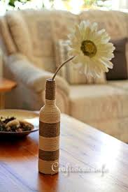 Wine Glass Flower Vase Summer Recycling Craft Idea Flower Vase Created By Wrapping