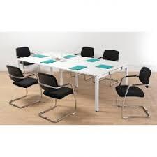 White Boardroom Table Arista 2 4m Bench Boardroom Table White Kf838861