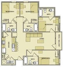 4 bed 4 bath floor plan bryant place
