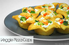 Easy Appetizers Veggie Pizza Cups The Gunny Sack