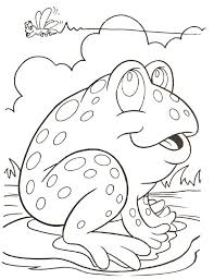cute frog coloring pages on lily pad coloringstar