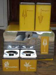 Metal Canisters Kitchen Vintage Pantry Queen Bread Box Canister Set 5 Pc 1950 U0027s Retro