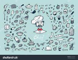 cooking vector set menu decoration hand stock vector 594266981