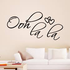 aliexpress com buy ooh la la paris france hearts love vinyl wall