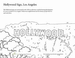 summer vacation coloring pages summer vacation coloring the hollywood sign worksheet