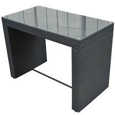 amazon com outsunny 7 piece outdoor rattan wicker bar pub table
