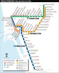 Maps San Diego by San Diego Metro System Map Trolley U2022 Mapsof Net