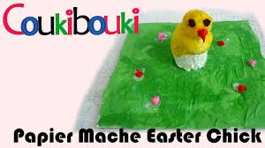 paper mache easter artistic activity for children
