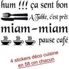 phrase cuisine stickers phrase cuisine achat vente pas cher