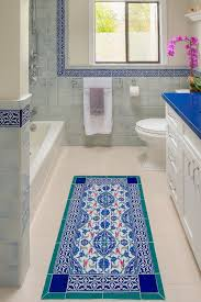 White And Blue Tiles In Bathroom How To Be Bold With Tiles