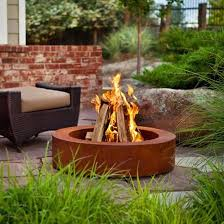 Unique Fire Pits by Rusty Corten Weathering Steel Outdoor Garden Unique Fire Pits