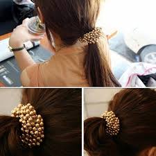 pop bands hair 1 pc fashion women pearls hair band rope scrunchie ponytail