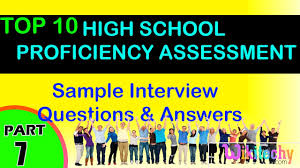 high proficiency assessment top most interview questions