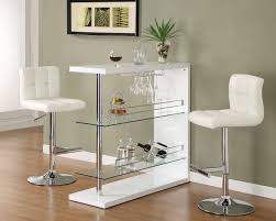 coaster fine furniture 100167 120356 bar table with 2 shelves and