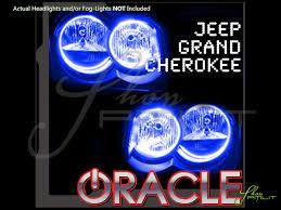 oracle 05 10 jeep grand cherokee led halo rings head fog lights