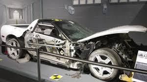 corvette car crash crash test car in the museum picture of national corvette museum