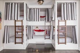Custom Bunk Beds U Shaped Bunk Beds Cottage Bedroom Benjamin Moore Classic Gray