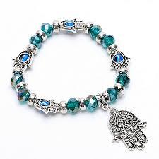 evil eye hand bracelet images Hamsa hand evil eye crystal bracelet png