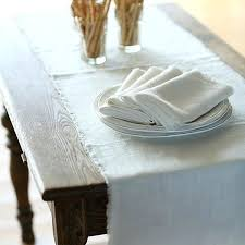 Kitchen Table Runners by White Linen Table Runner U2013 Thelt Co