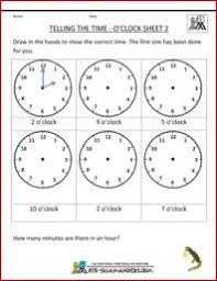 10 worksheets to help your child tell time by half hour telling