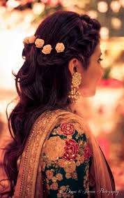 hairstyles for girl engagement pretty delhi wedding with a bride in gorgeous outfits mehendi