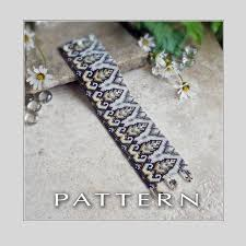 bracelet beading pattern images Art deco design bracelet bead pattern francesca 39 s fancy jpg
