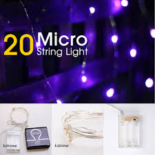 lidore micro led 20 purple string lights with timer