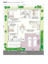 4 Bedroom Duplex Floor Plans Duplex House Plans In 250 Sq Yards Home Deco Plans