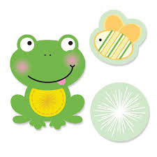 frog baby shower froggy frog shaped party paper cut outs bigdotofhappiness