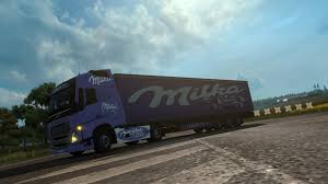 volvo commercial 2016 volvo fh2012 milka combo v1 skin euro truck simulator 2 mods