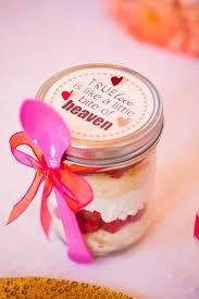 favors pink cake in a jar cupcake in a jar food favor mason jar i