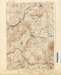 Map Of Vermont And New Hampshire New Hampshire Topographic Maps Perry Castañeda Map Collection