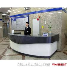 Custom Made Reception Desk Custom Made Artificial Marble Solid Surface Curved Bank Hotel