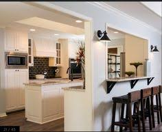kitchen half wall ideas half wall cut out between kitchen and living room need some ideas