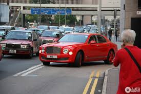red bentley bentley mulsanne 2009 24 october 2016 autogespot