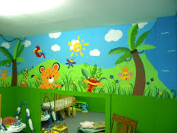 daycare jungle mural complete wall 4 mural ideas pinterest