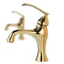 single hole bathroom sink faucet polished brass golden bathroom sink faucet single hole throughout