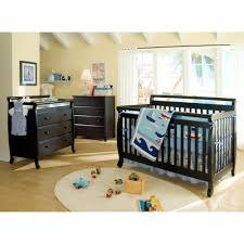 Convertible Cribs With Toddler Rail by Davinci Emily 4 In 1 Convertible Crib Ebony Black Walmart Com