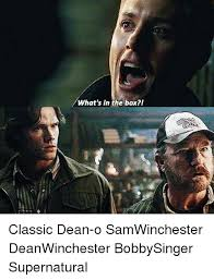 Whats In The Box Meme - what s in the box i classic dean o samwinchester deanwinchester
